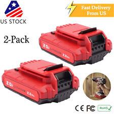 2 Pack PCC680L Batetry for Porter Cable PCC685L PCC680L PCC682L Impact Fuel Tool