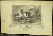 Antique Print FATHER CLINCH AT VINEGAR HILL 1798 Wexford Ireland Engraving 1860