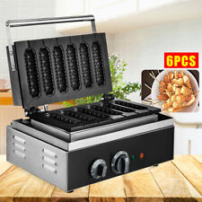 Commercial 6pc Stick Waffle Maker Machine Sausage Hot Dog Machine 110v 1500w
