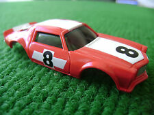 New Auto World 1971 Red Racing Camaro HO Xtraction Slot Car Body Fit Aurora AFX