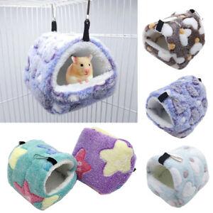 Pet Warm Cage Hamster Nest Plush Hanging Hammock Guinea Hedgehog Bed Mat S-XL