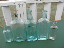 5 Antique Glass Medicine Bottles Kennedy Miles Chamberlain Fellows National