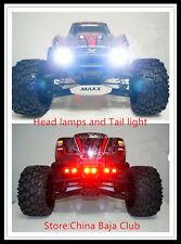 LED headlamp and taillight set with head light bracket for 1/5 TRAXXAS X-MAXX