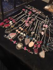 Job Lot Of Silver Tone Jewellery 18 Bits
