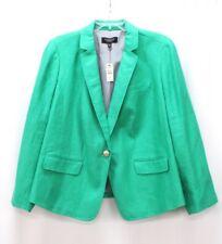 NEW $179 green TALBOTS blazer suit jacket 100% Linen lightweight 1X 16WP 16W 16P