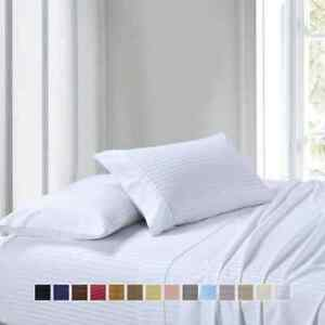 Luxury Ultra Soft Cotton Deep Pocket Sheet Set [ Fitted + Flat + Pillowcases ]