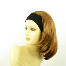 Stirnband Perücke frau mit lang dunkelblonden Kupfer MADY g27