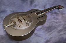 More details for duolian resonator guitar - 'relic' steel body