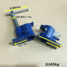 1/2 inch Wood Gluing Pipe Clamp Set Cast Iron Woodworking Carpenter Tool