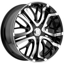 "4-Incubus Paranormal 20x8.5 5x110/5x115 +35mm Black/Machine Wheels Rims 20"" Inch"