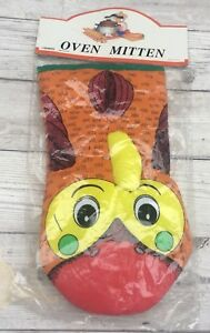 Fab Fun Funky Retro 70s Padded Novelty Chicken Rooster Oven Mitten Glove