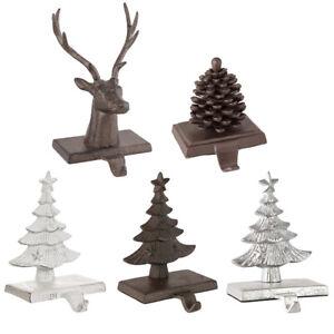Christmas Stocking Holder Cast Iron Mantelpiece Xmas Stocking Hanger Hook