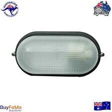 Black Bunker Light Outdoor Bulkhead Utility LED compatible E27 - IP54 240v