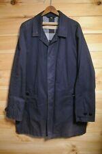 Burberry Brit Blue Mac Coat jacket XXL Slim Fit Nova Check Lining