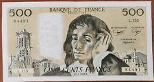 Billet 500 francs PASCAL 7 - 1 - 1981 FRANCE L.155