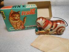 Gun Mao Tin Wind Up Cat in Box