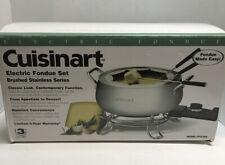 Cuisinart Electric Fondue Set Brushed Stainless Series 3 Qt Model Cfo-3Ss
