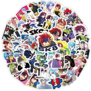 50 PCS SK8 The Infinity Stickers Skateboarding Anime Laptop Decals Vinyl Sticker