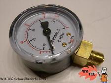 """Manometer für MINI Druckminderer 50mm 1/8""""   Argon Mischgas CO2  0 - 20 L"""