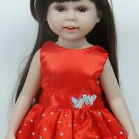 Doll Dress For 18 Inch USA Dolls Red Skirt 18 Inch Girl Doll DECO Clothes B2S0
