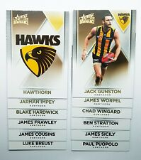 2019 Select Dominance Hawthorn Hawks Team Set 12 AFL Trading Cards