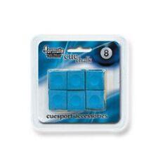 Pioneer Pool Snooker Billiard Cue Tip Table Chalk *BLUE* 1 Pack of 6 blocks