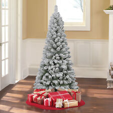 Holiday Time 6' ft Unlit Greenwood Pine Artificial Christmas Tree green flocked
