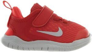 Nike FREE RN 2018 TD Toddler Running Shoes AH3453 600 SZ 7-10C Speed Red/Grey
