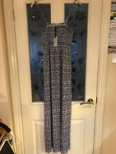 Ladies Clothes Size Small Dickins And Jones Tribal Bandeau Maxi Dress Navy (350)