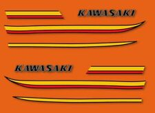 KAWASAKI 350 S2A  & 250 S1A - Stickers decals carrosserie - 1973 Gold Orange