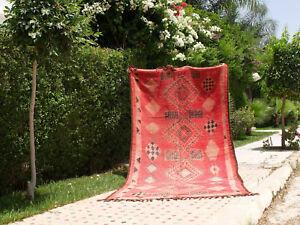Colorful Rug Moroccan Vintage Boujaad handmade Carpet Berber 10.8 Ft x 5.2 Ft
