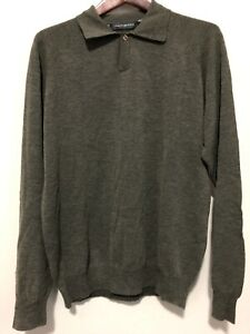 Jhane Barnes Medium Mens Wool Nylon Polo Rugby Sweater