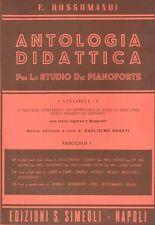 SIMEOLI Rossomandi, F. - ANTOLOGIA DIDATTICA - CAT. A - VOL. 1