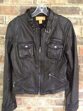 Michael Kors 100% Leather Moto Style Jacket Size L NWT
