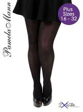 80 Denier Opaque Black Tights Plus Size 16 to 32 XL XXL XXXL From Pamela Mann UK 28-32