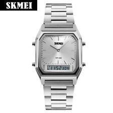 Luxueuse Montre Pour Homme SKMEI Classique Silver Affaires Analogue Digital