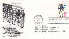 USA 1975 le UNIFORMI DELLE FORZE ARMATE FDC