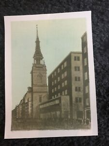 ROBERT TAVENER R.E. Limited Ed LITHOGRAPH St Mary Le Bow, Cheapside, London