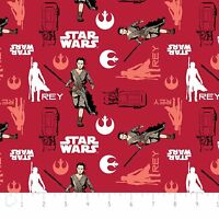 Star Wars The Force Awakens Rey Ruby Red Camelot 100% cotton Fabric by the yard