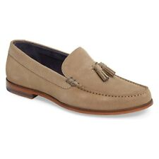 £105 Ted Baker Dougge Suede Leather Tassel Penny Loafers Shoes 8 Beige Brown