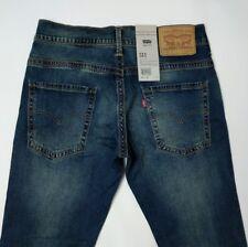Levi's 511 Mens Jeans Slim Fit Blue Double Stitch Stretch W31 L32 New RRP£80
