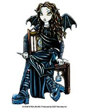 Myka Jelina Gothic Fairy Sticker Decal Killing Time NEW Faery hourglass bat wing