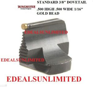 """WINCHESTER 94 1894 FRONT SIGHT .500"""" HIGH .500 WIDE 1/16"""" GOLD 3/8"""" Dovetail"""