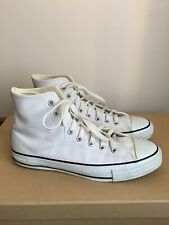 White Leather converse all star size 8 (mens) / 10 womens