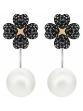 Swarovski 5389161 LATISHA PIERCED EARRING JACKETS, BLACK Authentic