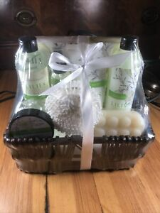 Gift Baskets for Women, Body & Earth Spa Gifts for Her, Lily 10pc Set