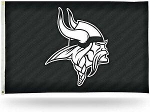 Minnesota Vikings Flag Banner 3x5 Carbon Fiber Design Premium Outdoor Football
