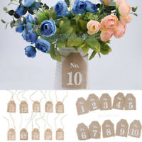 Rustic 1-20 Burlap Table Numbers Table Centerpiece for Wedding or Home