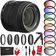 Oshiro 35mm f/2 Wide Angle Lens for E-Mount FE Cameras & 55mm Color Filter Set