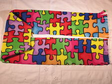 Puzzle Pieces Fleece Scarf Autism Awareness